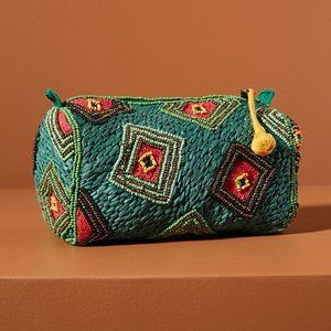 Green Embellished Pouch